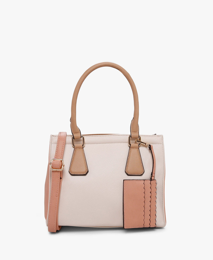 Off-White And Pink Longhill Handbag