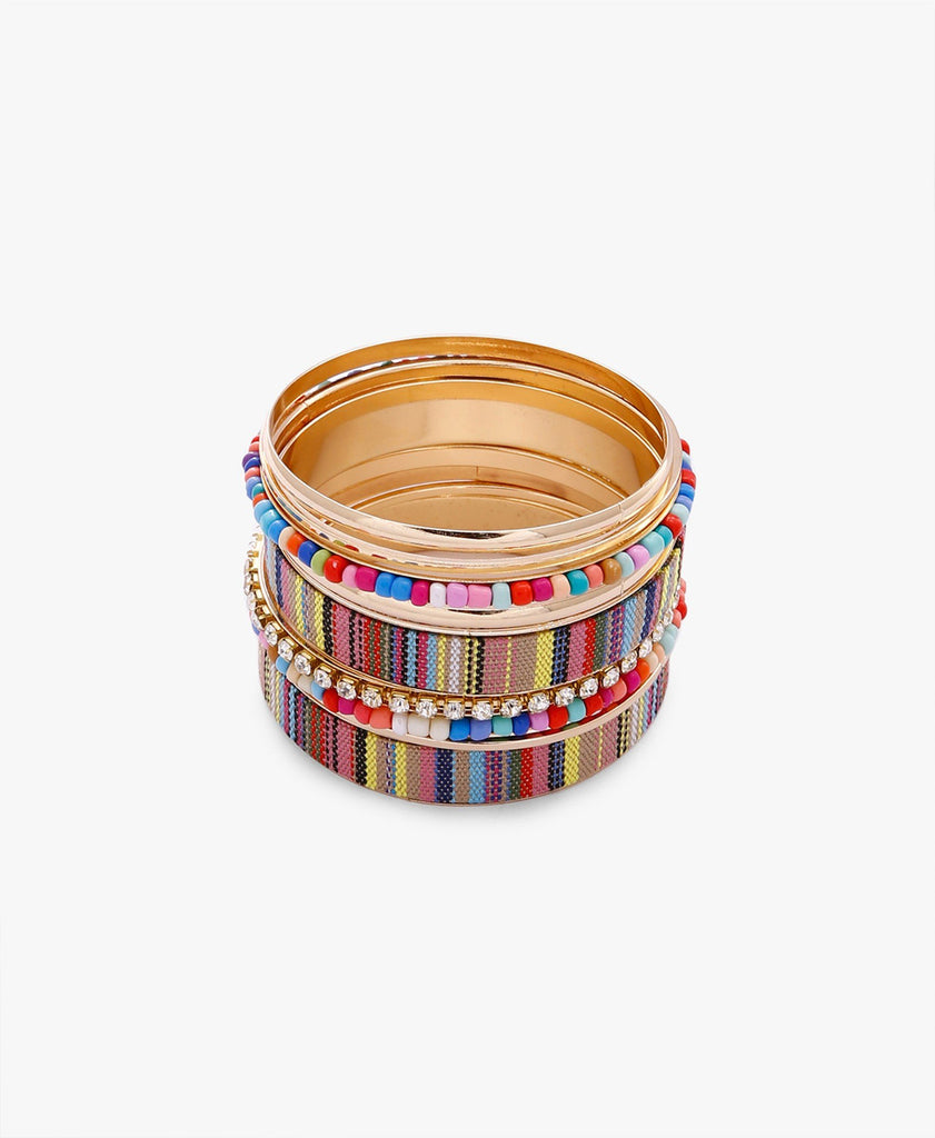 Multi-Coloured Bangle Set