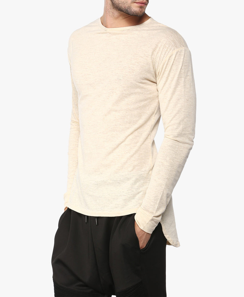 Beige Long Sleeve T-Shirt