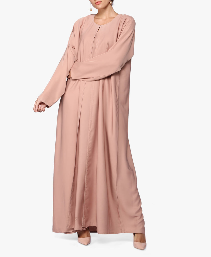 Brown Classic One-Piece Abaya