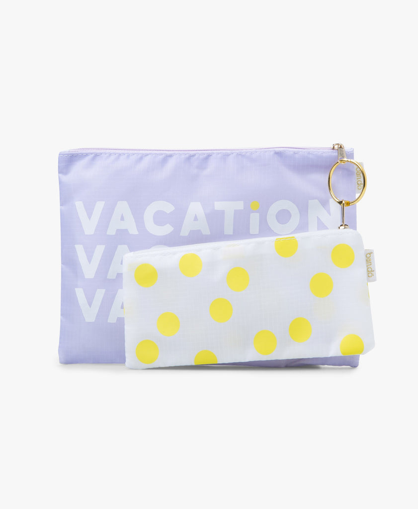 Vacation Dots Carryall Duo Clutch