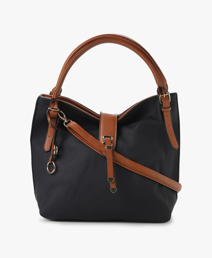 Contrast Trim Tote Bag