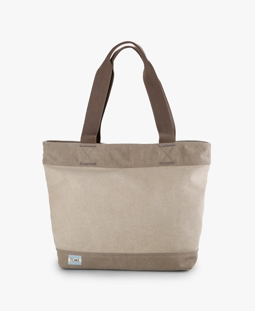 Grey Canvas Transport Tote Bag