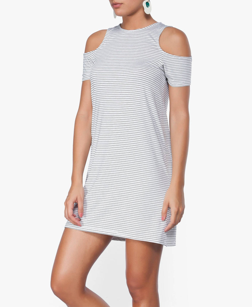 Double Up Cold Shoulder Tee Dress