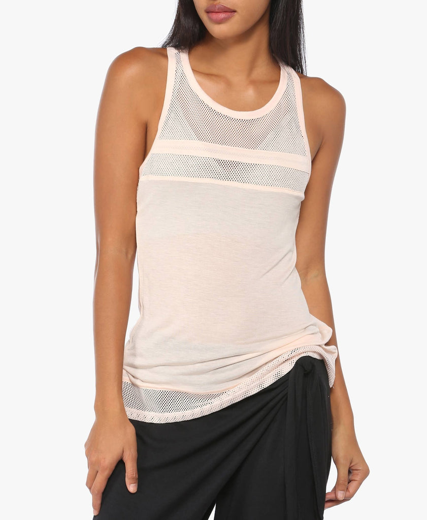 Light Pink Active Perforated Tank Top