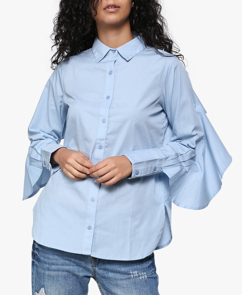 Ruffle Back Shirt
