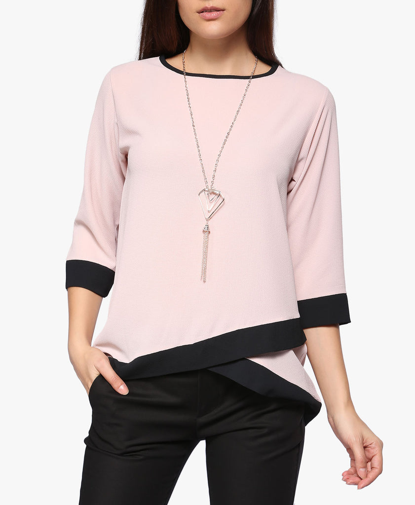 Contrast Necklace Top