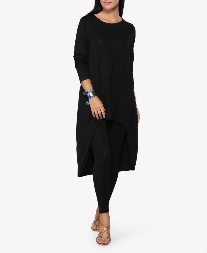 Black High-Low Lounge Top
