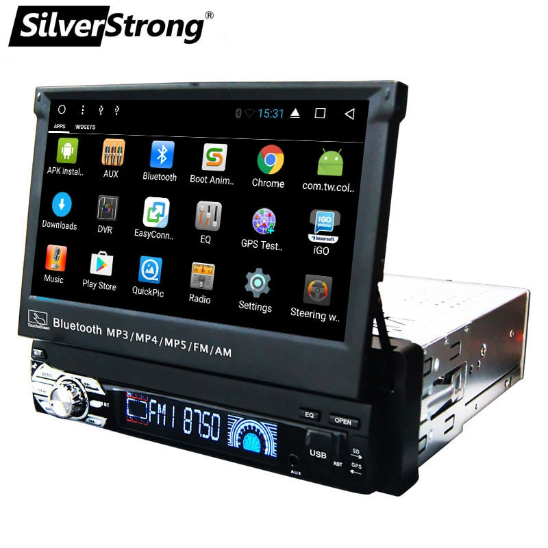 SilverStrong 1Din Android8.1 Universal 7inch Car DVD Auto Radio Android Car Stereo Universal multimedia by Kaier تنتج