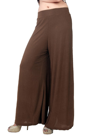 Snazzyway-Flared Brown Palazzo Bottom