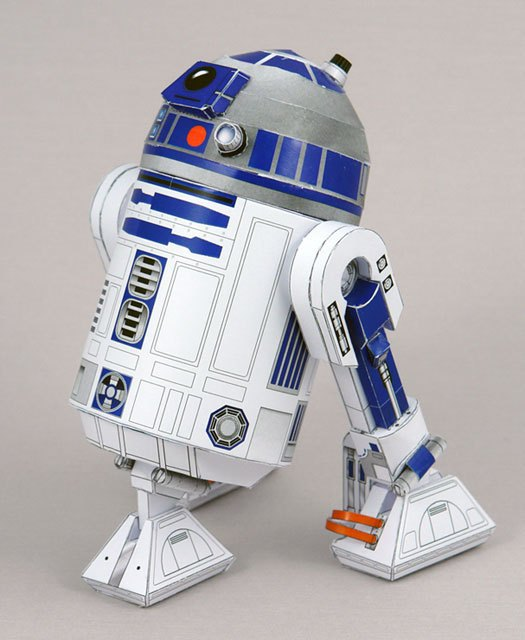 Star Wars Skywalker Robot R2-D2 Movie Craft Model 3D Paper Model DIY Assembled Handmade Toy