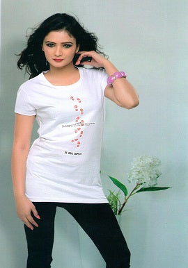 Super Cool White Short Sleeves Tee