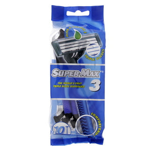 Super Max Triple Blade Disposable Razor 10pcs
