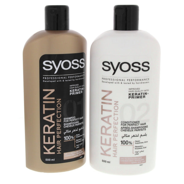 Syoss Keratin Hair Perfection Shampoo 500ml + Conditioner 500ml