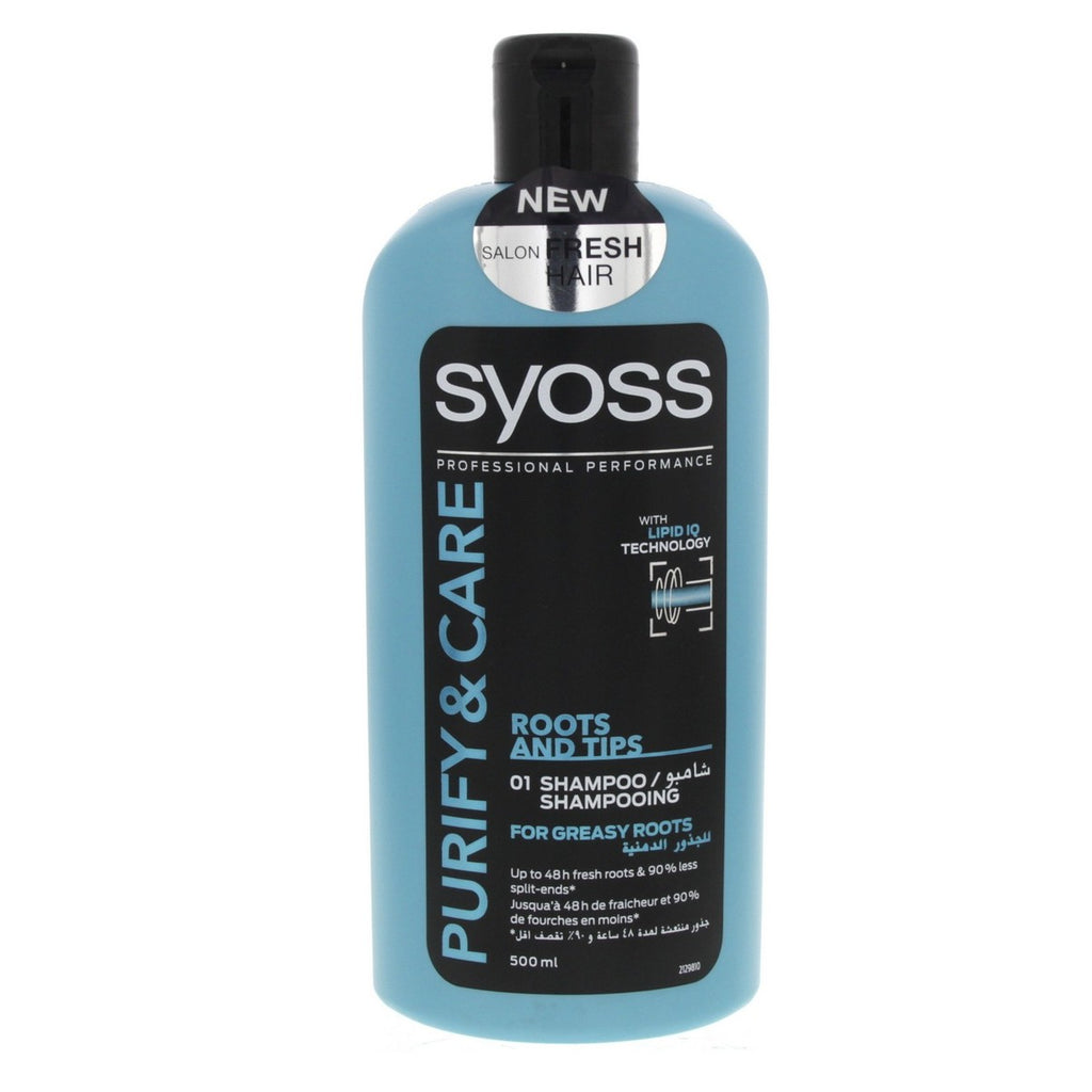 شامبو Syoss Purify and Care Roots and Tips 500 مل