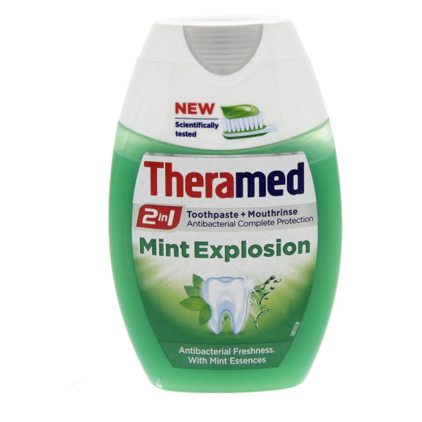 Theramed Mint Explotion 2 in 1 Toothpaste + Mouthrinse 75ml