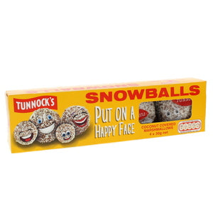 Tunnock's Coconut Covered Snow Balls 4 x 30g