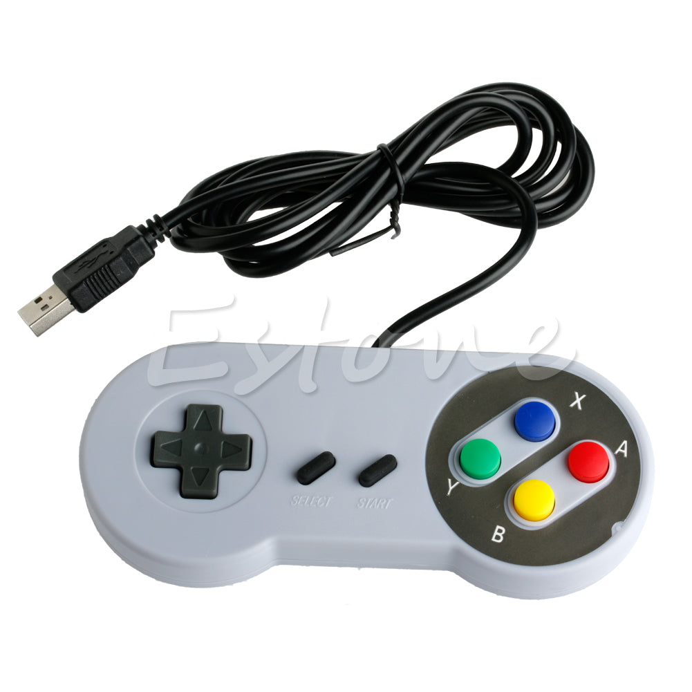 USB Gamepad Super Controller Joypad لـ Famicom Nintendo SF SNES PC Windows Mac Jy17 19 Dropship