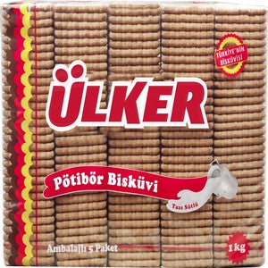 Ulker Petit Beurre Biscuits 5 Packages In 1 1000g
