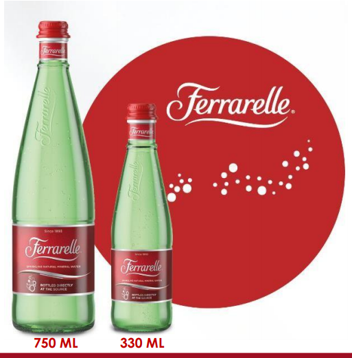 NATURAL SPARKLING MINERAL WATER 750ML GLASS