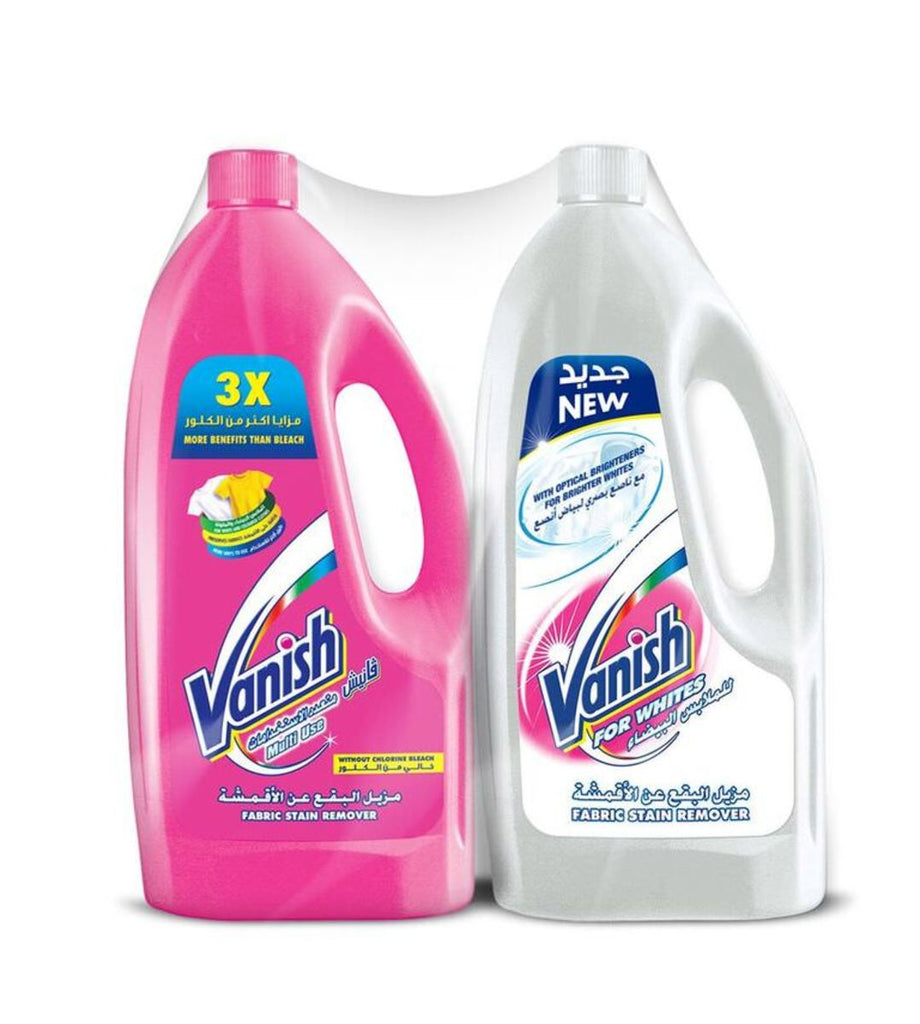 Vanish Stain Remover Liquid Colors + Whites 2 x 900ml