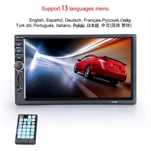 "Viecar Car Radio HD 7"" Touch Screen Stereo 2 Din Bluetooth FM ISO Power SD USB Mp5 Player No or With Camera"