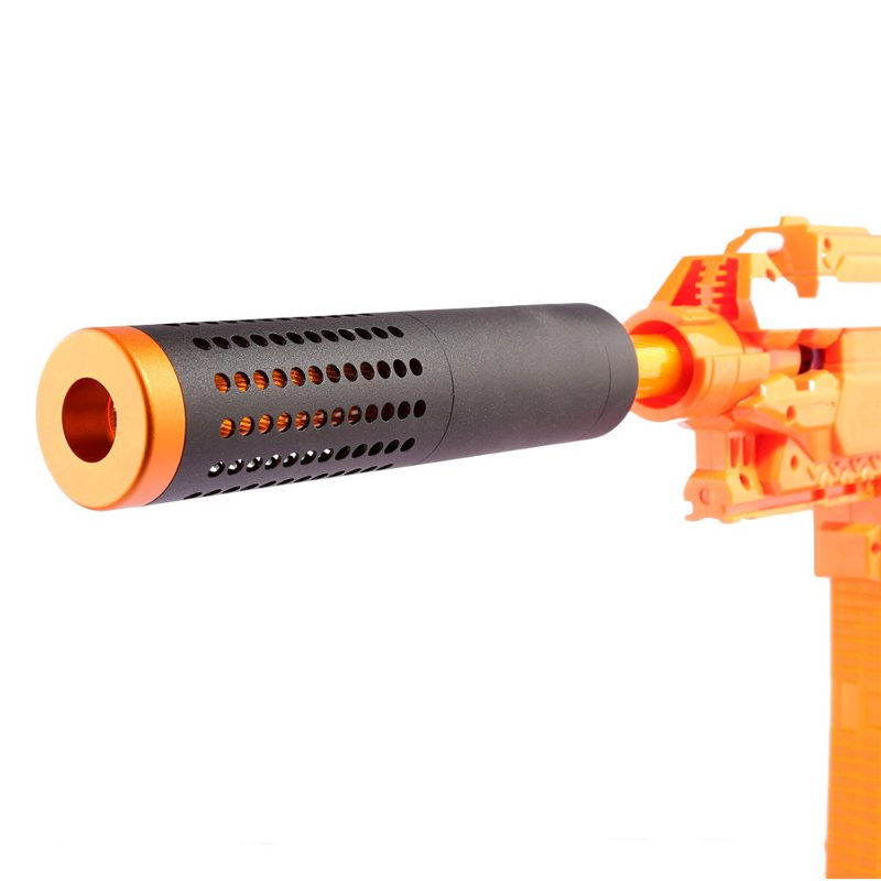 WORKER Suppressor Front Tube With Red Metal Barrel For Nerf N-strike Elite Retaliator Toys Accessory