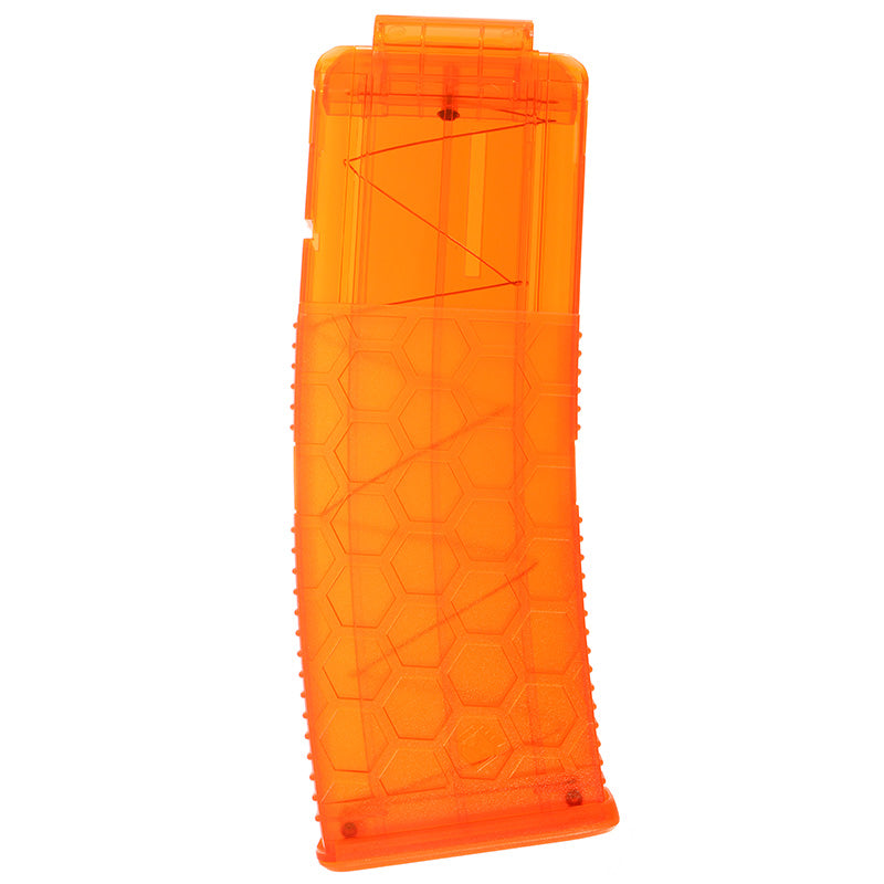 WORKER Toy 15Darts Plastic Clip Magazine For Nerf Replacement Accessory Toy  Orange Transparent