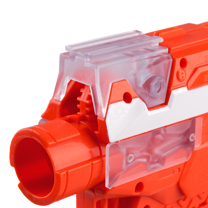 WORKER Toy Plastic Toys Rail Adaptor Front Top and Sides for Nerf STRYFE Modify Toy Accessory White
