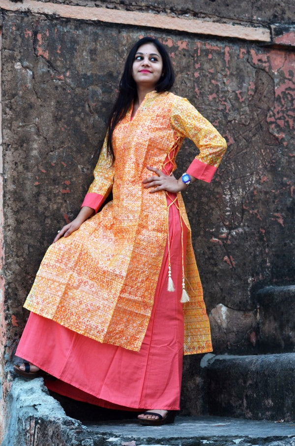 Kia Cotton Printed Kurti with Front Button