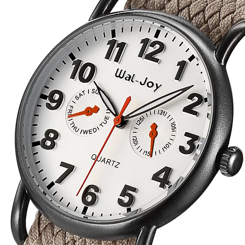 Wal-Joy WJ8004 Fashion Watch Nylon Strap College Student Mal