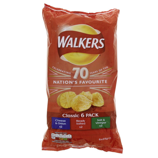 Walkers Classic Chips 6 X 25g