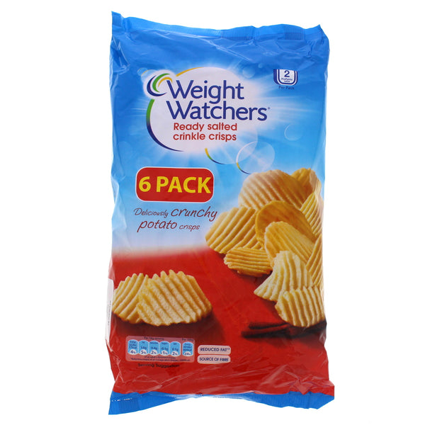 Weight Watchers Ready Salted Crinkle Crisps 6 x 16g