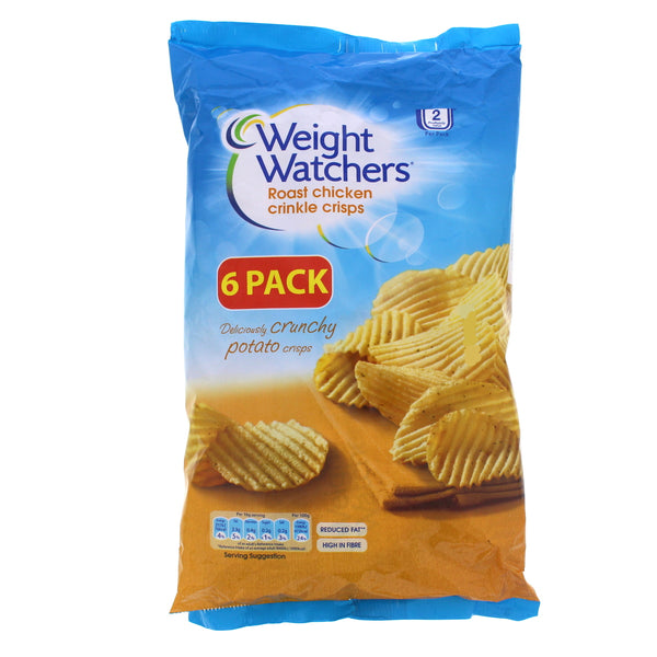 Weight Watchers Roast Chicken Crinkle Crisps 6 x 16g