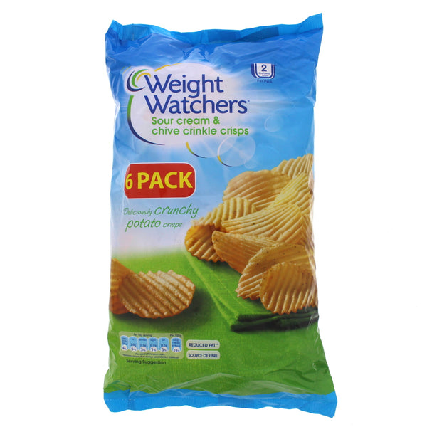 Weight Watchers Sour Cream & Chive Crinkle Crisps 6 x 16g