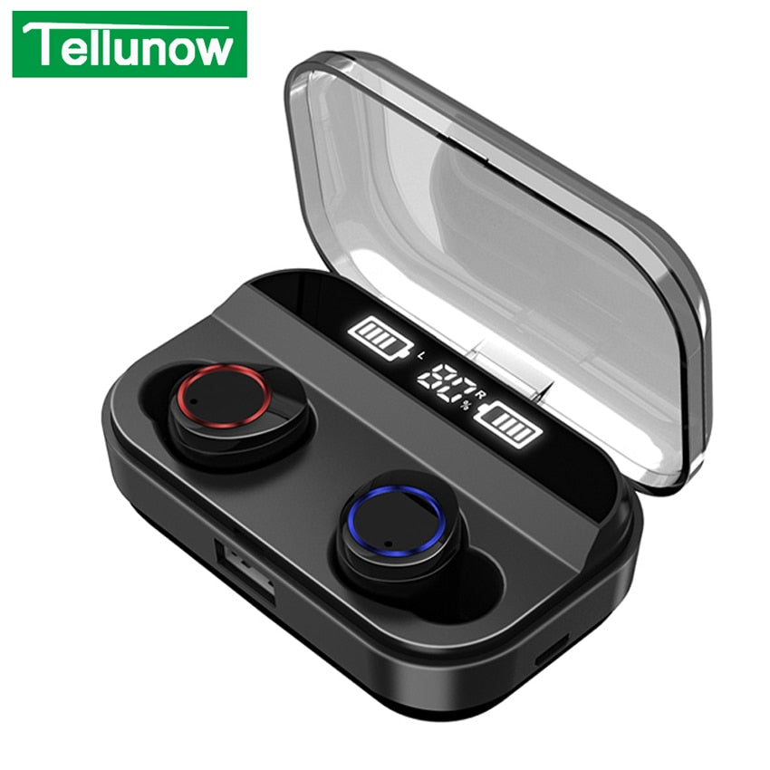 X11 TWS Wireless Bluetooth 5.0 Earphones Power Display Touch Control Sport Sports Stereo Wireless Earbuds Earbuds Charging Box 4000mAh
