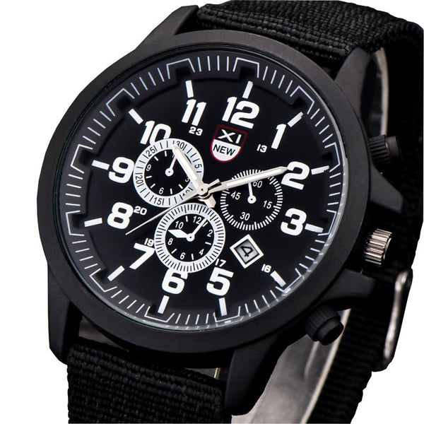 XINEW 2229D Fashion Men Quartz Watch Nylon Strap Sport Wrist Watch
