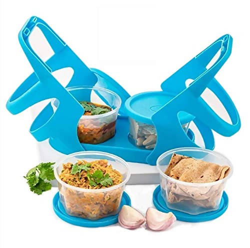 RSTC Lunch Box with Attractive Stand - 4 pcs (200 ml Each Container)
