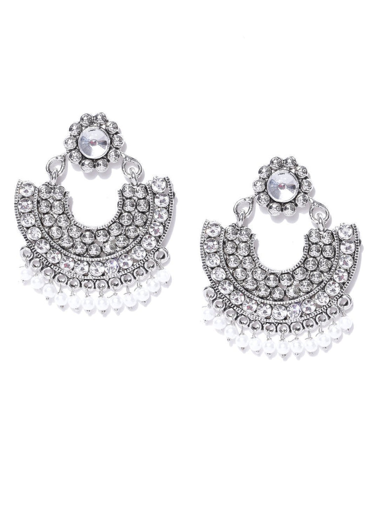 Zaveri Pearls Finely Designed Ethnic Chandbali Earring