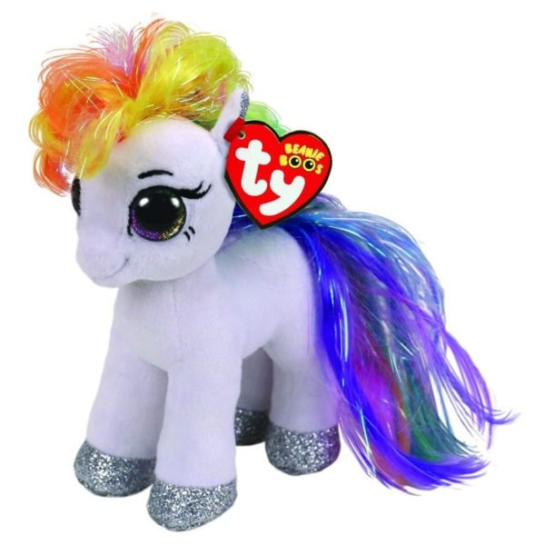 TY Beanie Boos Pony Starr White Regular 8in