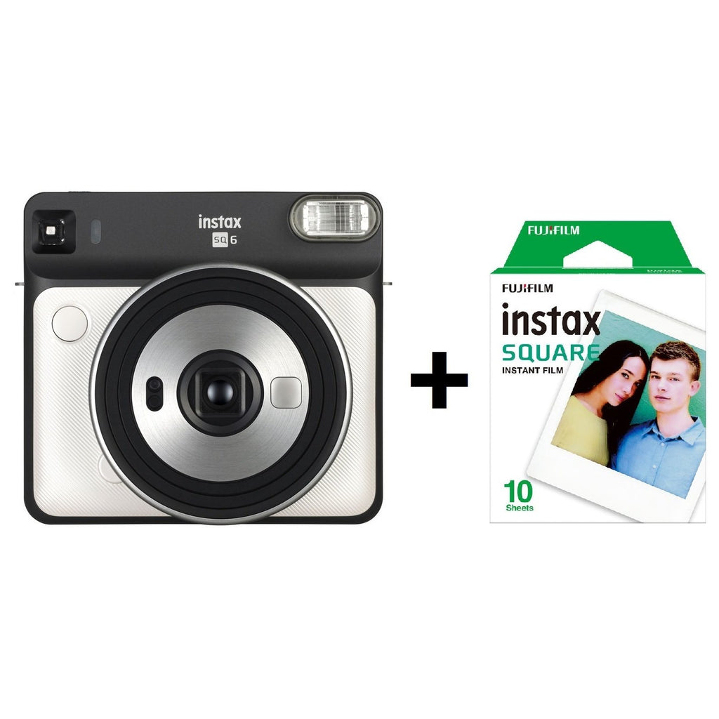 Fujifilm instax SQUARE SQ6 Instant Film Camera Pearl White + 10 Sheets