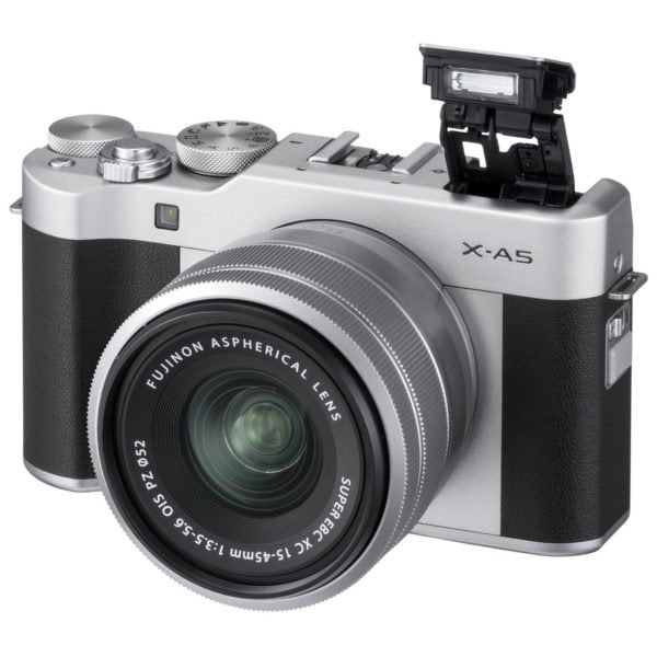 Fujifilm X-A5 Mirrorless Digital Camera Body Silver + XC 15-45mm f/3.5-5.6 OIS Lens Kit