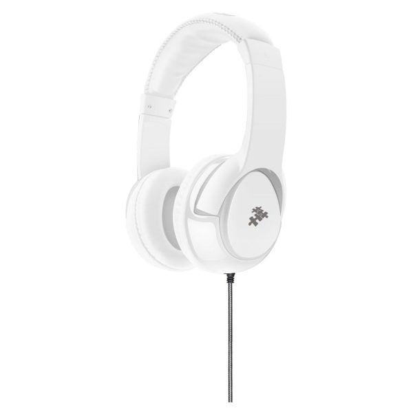 Eklasse Stereo Wired Headphone With Mic White – EKWHP09AI
