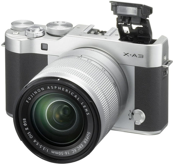 Fujifilm X-A3 Mirrorless Digital Camera Silver With XC 16-50mm Lens