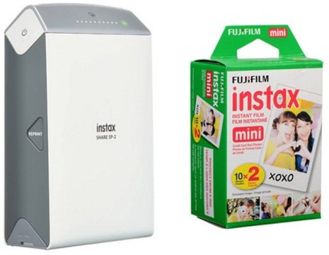 Fujifilm SP2 INSTAXSHARE Printer Silver + 20 Sheets