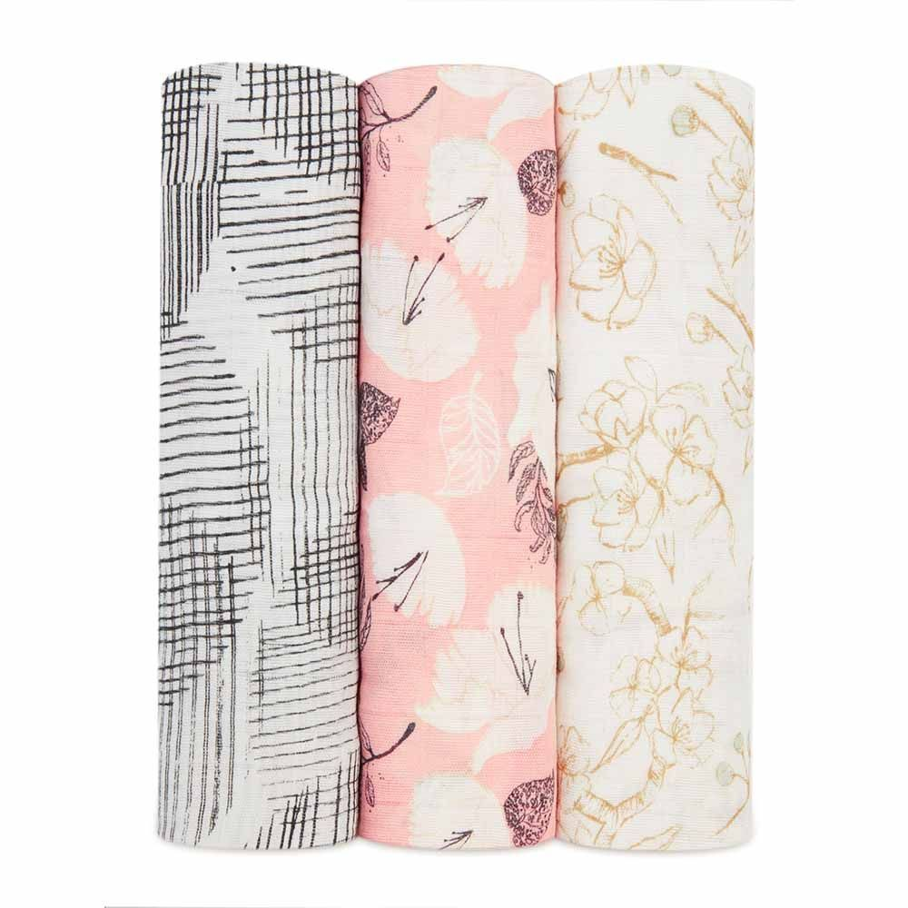 Aden And Anais Swaddles 3-Pack - Pretty Petals