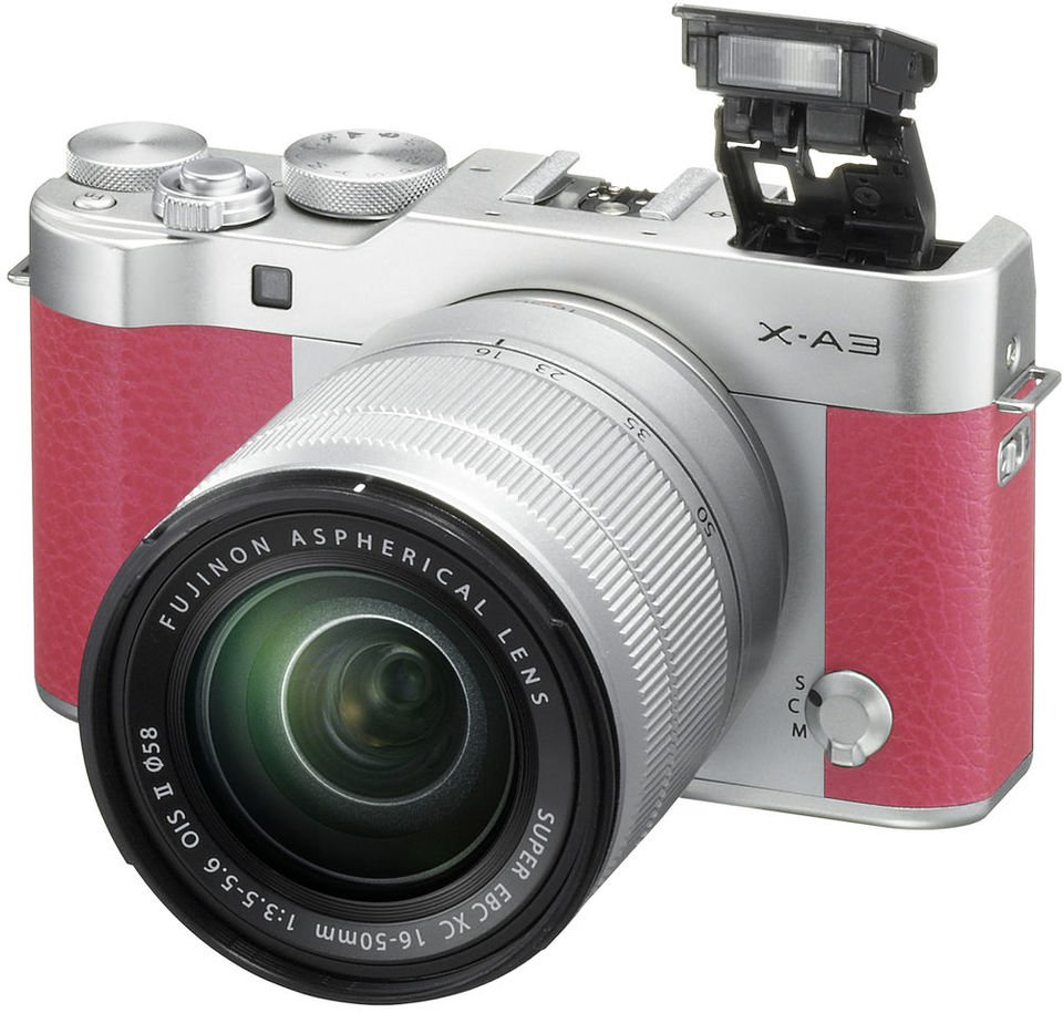 Fujifilm X-A3 Mirrorless Digital Camera Pink With XC 16-50mm Lens