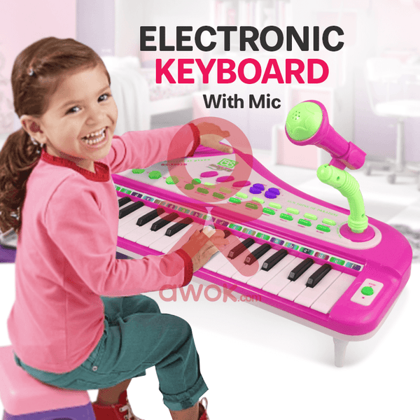 Electronic Keyboard With Charger