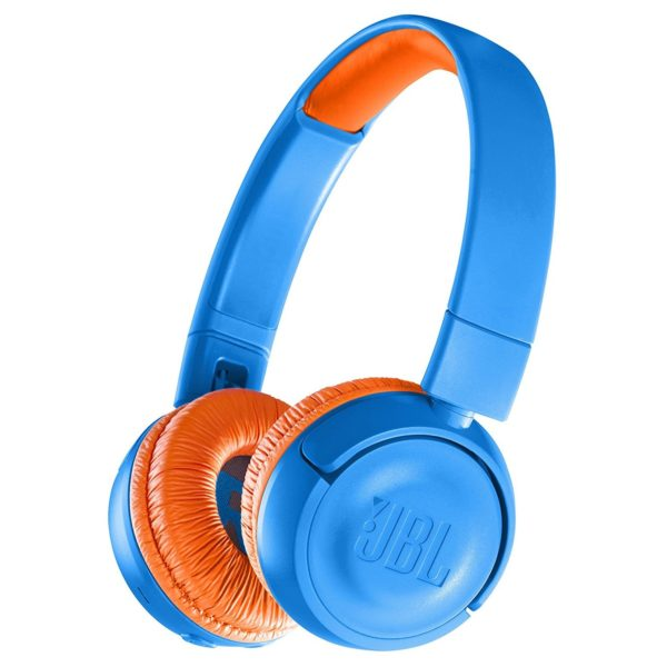 JBL Kids Wireless On Ear Headphones Blue/Orange JR300BT