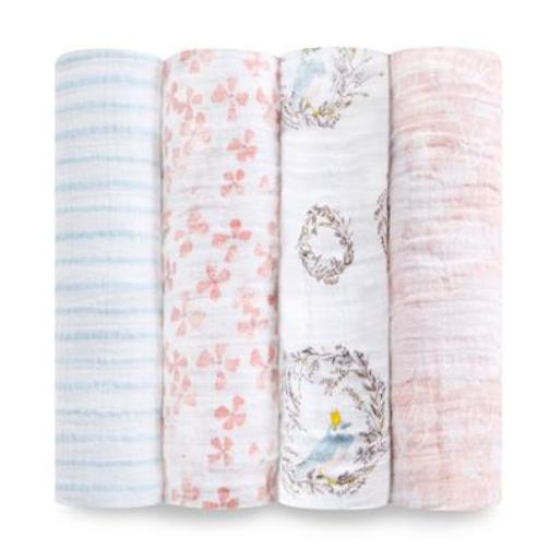 Aden+Anais - Birdsong 4-Pack Classic Swaddles